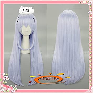 75cm heat-resistant Cosplay Wig your order Rabbit Is incense wind Chino  (Kafu Chino) cosplay wig dedicated net with sunshine online sales   Amazon.co.uk  ... 74a962add6af