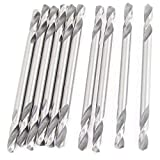 SuperWarehouse 10 Pcs HSS 3.2mm Dia Double End Twist Drill Bits Silver Tone, swh675543ca127743