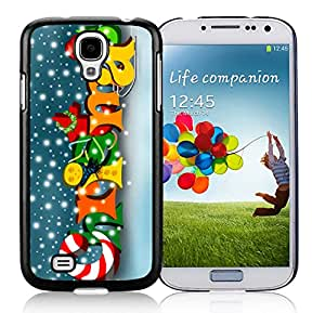 Samsung S4 Case,Colorful Snowflake Merry Christmas Black Silicone Phone Case Fit Samsung Galaxy S4 Case,Galaxy S4 I