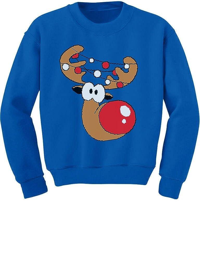 TeeStars Funny Reindeer Face Ugly Christmas Toddler Kids Boys Sweatshirts