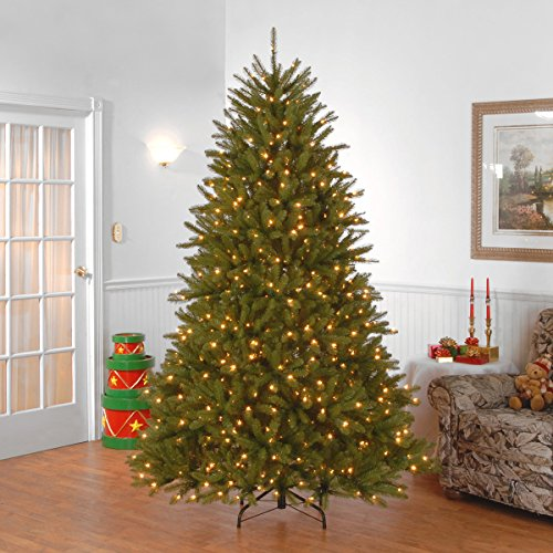 National Tree 7.5 Foot Dunhill Fir Tree with 750 Clear Lights, Hinged (DUH-75LO) by National Tree Company (Image #3)