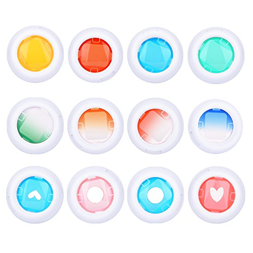 Sunmns Close Up Color Lens Filter Set for Fujifilm Instax Mini 8/ 8+/ 9 Instant Film Camera, 12 Piece