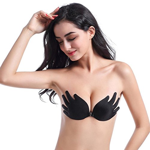 Goddessvan Wings of The Goddess Adhesive Silicone Invisible Push-up Bras for Women (B, (Goddess Sheer Costumes)