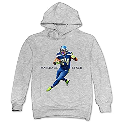 XJBD Men's Marshawn Lynch Cool Hoodies Ash