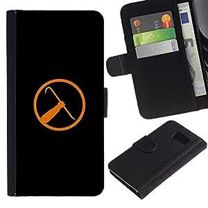 JackGot ( Half Life Crowbar ) Sony Xperia Z3 Compact / Z3 Mini (Not Z3) la tarjeta de Crédito Slots PU Funda de cuero Monedero caso cubierta de piel