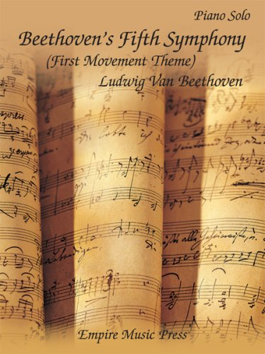 Beethoven's Fifth Symphony (First Movement Theme) Piano Solo-SHEET ()