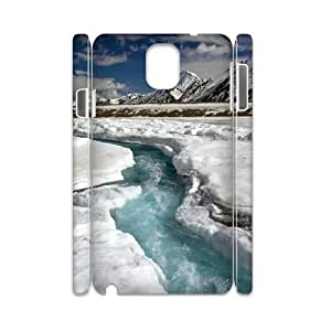3D {freeze Series} Samsung Galaxy Note 3 Cases Fast River Ice Cold, Unique Design by Rock Case Sexyass - White