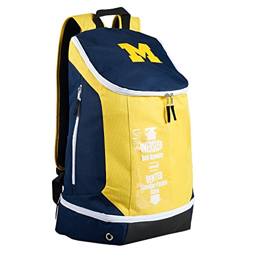 Official Logo Ncaa Backpack - NCAA Michigan Wolverines Backpack, One Size, Navy