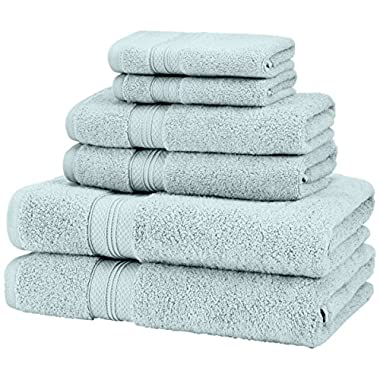 Pinzon 650-Gram Pima Cotton 6-Piece Towel Set - Spa Blue