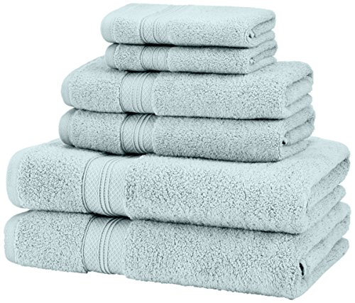 Pinzon Low Twist Pima Cotton 650-Gram 6-Piece Towel Set, Spa