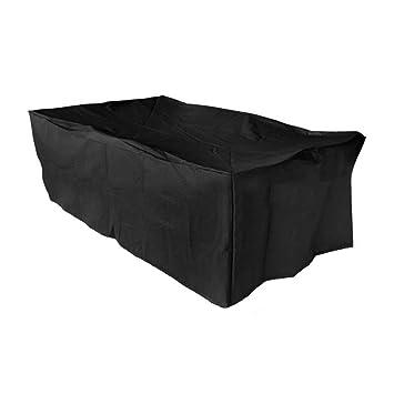 Basong Funda para Muebles de Exterior Cubierta Protectora contra Sol Agua Polvo para Muebles Barbacoa de Jardín 213 * 132 * 74cm Negro: Amazon.es: Jardín