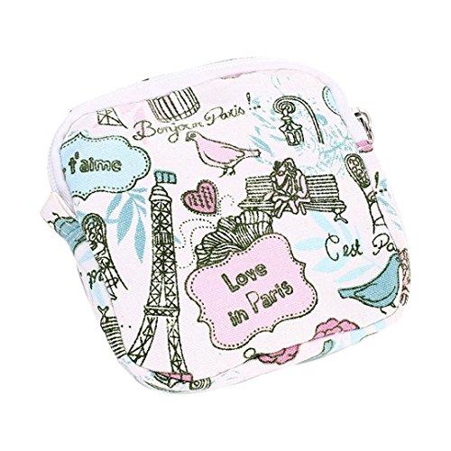 Bolsos Para mujer, RETUROM Bolsos lindos de la muchacha para la toalla sanitaria de la servilleta o el dinero verde(B)