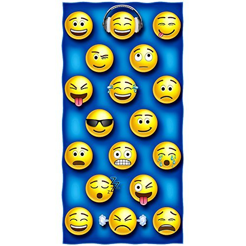 Emoji Cotton Beach Towel [並行輸入品] B07RFGTZ5Z