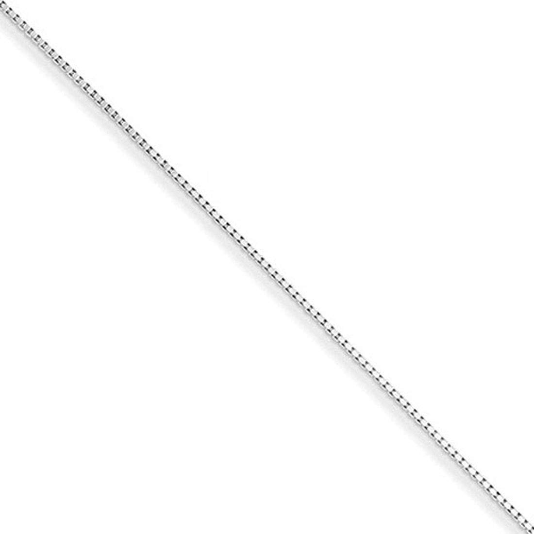 Forever Flawless Jewelry Sterling Silver 1.30 mm High Polish Classic Box Link Chain Necklace