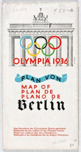 Olympia 1936 Berlin - Olympia 1936: Plan von Berlin (Map of/Plan de/Plano de)