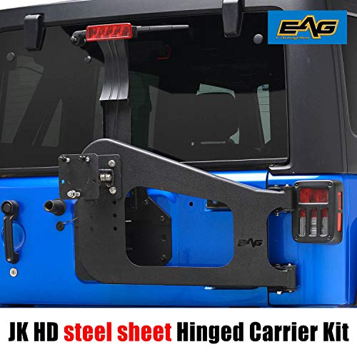 EAG Tire Carrier W/Hinge Casting for 07-18 Jeep Wrangler JK ()