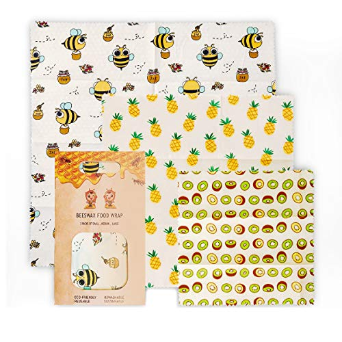 Eco-Friendly Beeswax Wrapping Paper, Reusable Wraps, Sustainable Food Storage, Plastic-Free, FDA Certification, Natural Wax Sheets Perfect For Covering Sandwiches, Cheese And Fruits.
