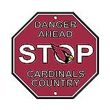 """NFL Arizona Cardinals Stop Sign, 12"""" x 12"""