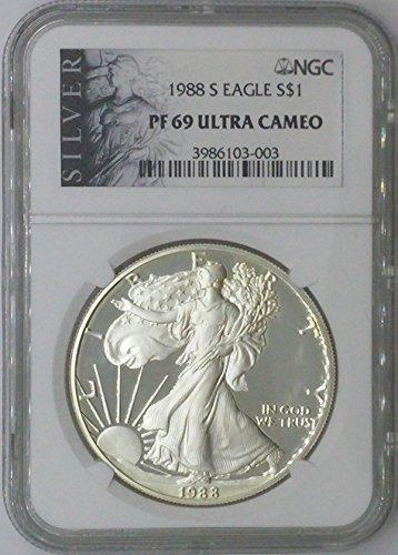 1988 S American Eagle $1 PF69 NGC PF