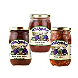 Jake & Amos Best Selling Salsa Variety Pack 16 oz. Cherry, Corn, Black Bean (1 Jar of Each)