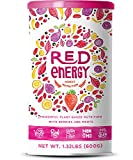 Red Energy - Organic Alertness & Motivation Booster with Roots and Berries - Turmeric, Maca, Yerba Mate, Açai, Goji, Strawberries and more - 20 Servings