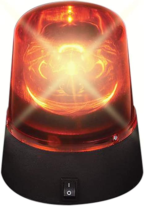 ArtCreativity Red Police Beacon LED Light, 4.5 Inch Rotating and Flashing Police Light Toy with Batteries Included, Police Party Decorations and Supplies, Fun Police Theme Gift for Boys and Girls