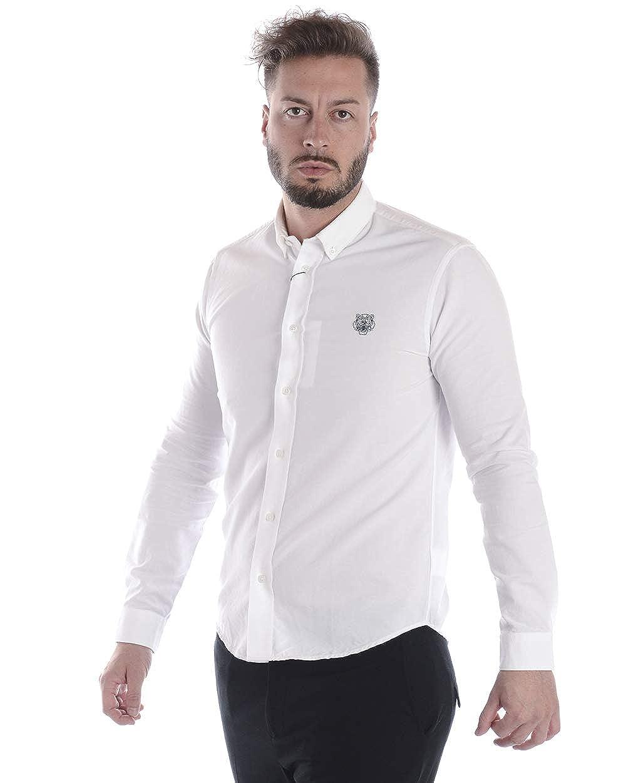 ef1650ac2 Kenzo Mens Tiger Crest Slim Fit Shirt: Amazon.co.uk: Clothing