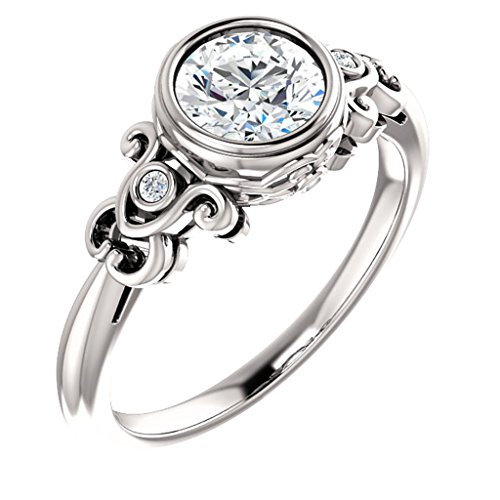 Tdw Prong Set - Antique Style Bezel Set Engagement Ring 5/8ct. TDW