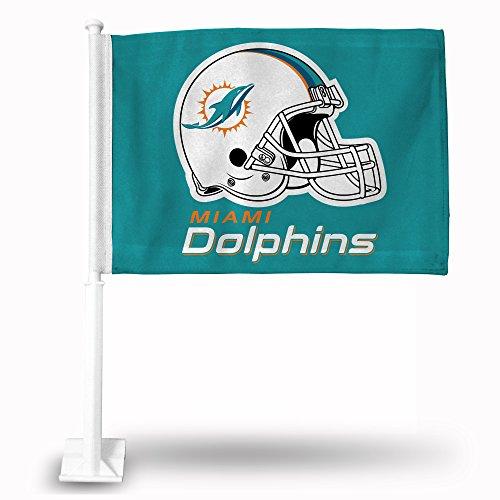 Miami Dolphins Car Flag - Rico Industries NFL Miami Dolphins Car Flag