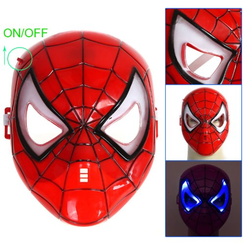 (Kingzer Spider-man Mask for Halloween Masquerade Cosplay Carnival Party Makeup)
