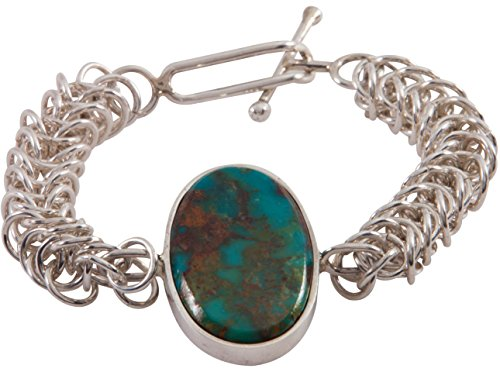 Kingman Turquoise Bracelet (Zuni Native American Kingman Turquoise Bracelet by Ric)
