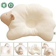 Organic Cotton Baby Protective Pillow - Cloud Lamb