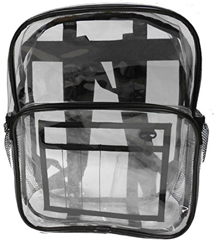 Heavy Clear Vinyl Backpack (Heavy Duty Clear Backpack)
