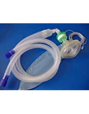 "Anesthesia breathing circuit kit ( 60"", 3L bag, Gas line, Adult Mask, Heat Moisture Exchange filter)"
