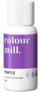 Colour Mill Oil-Based Food Coloring, 20 Milliliters Purple