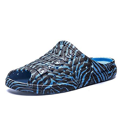 Color da 41 Pantofole spiaggia Zebra Black da Blue pantofole sandali viaggio Scarpe uomo antiscivolo da shoes da Dimensione outdoor e EU flat Jiuyue passeggio uomo da Zebra 5XPqgHxw