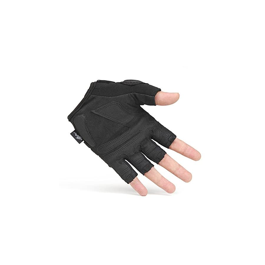 hhsgcggy Outdoor Training Mountaineering Cycling Gloves/Climbing Slip wear Half Finger Gloves