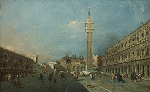 'Francesco Guardi Venice Piazza San Marco ' Oil Painting, 18 X 29 Inch / 46 X 75 Cm ,printed On Perfect Effect Canvas ,this Best Price Art Decorative Prints On Canvas Is Perfectly Suitalbe For Powder Room Gallery Art And Home Artwork And (Sandy The Squirrel Costume)