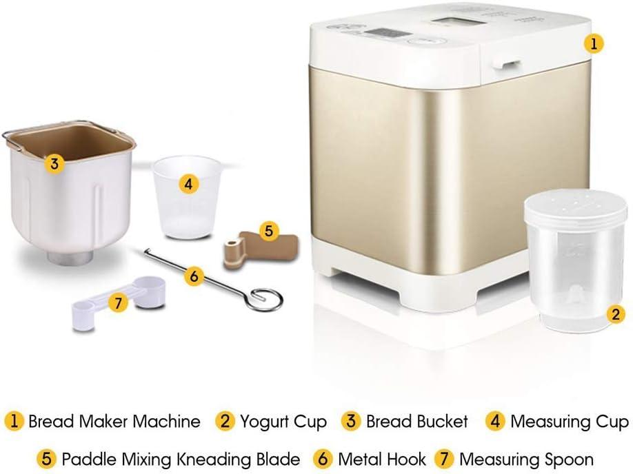 SHYOD Pan automática LCD Fabricante de visualización de la máquina 450W Inteligente panificadora Inicio Yogur Fabricante de Pasteles Robot de Cocina Utensilios de Cocina zhangxu: Amazon.es