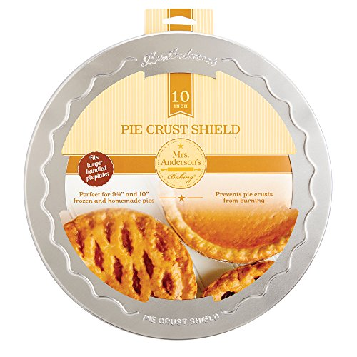 Mrs. Anderson's Baking Pie Crust Protector Shield, Fits 9.5-Inch and 10-Inch Pie ()