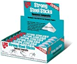 Strong Steel Stick Renewal Composite, Stick, Black; Gray (12 Pack)