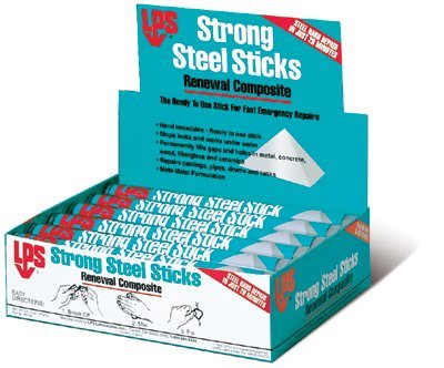 Strong Steel Stick Renewal Composite, Stick, Black; Gray (12 Pack) by LPS (Image #1)