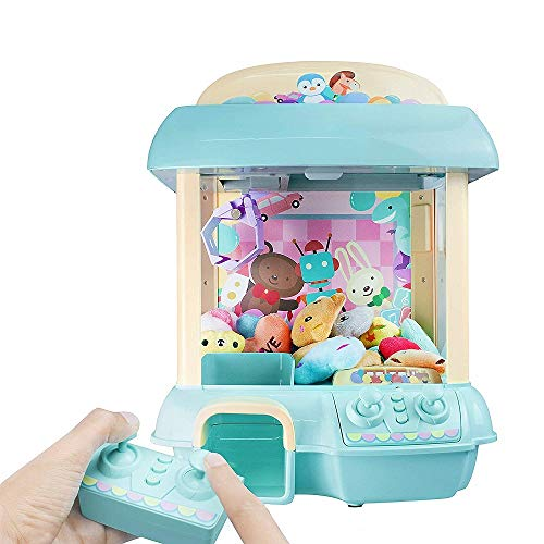 ForBEST Claw Machine Doll Machine with Removable Remote Control, USB Cable, 6 Dolls, Adjustable Sounds and Lights, Best Gift Toy for Kids (Blue)