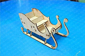 Amazoncom Diy Assembly Model Kits Christmas Sleigh Wooden Model