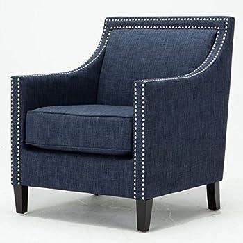 Amazoncom Comfort Pointe Taslo Navy Blue Accent Chair Kitchen