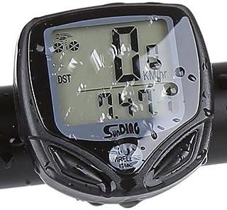 Heloch ® Lenoge Compteur Vélo étanche sans-fil multifonctions avec écran LCD rétro-éclairé