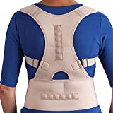 LifeShop Active Physio+ Magnetic Posture Gripping Back and Shoulder Support Brace - Nude