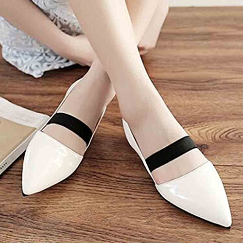 on No Patent Women's Sandals Aisun Toe Red Heel Pointed Slip White 8axRw