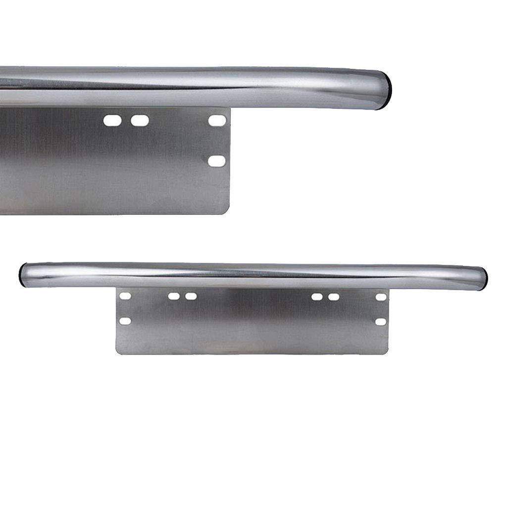 Car 23 Silver Bull Aluminum Bull Bar Front Bumper License Plate Tail Light Mount Bracket Holder Work Lamp Holder