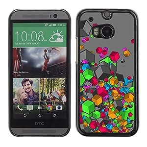 Caucho caso de Shell duro de la cubierta de accesorios de protección BY RAYDREAMMM - HTC One M8 - Colores